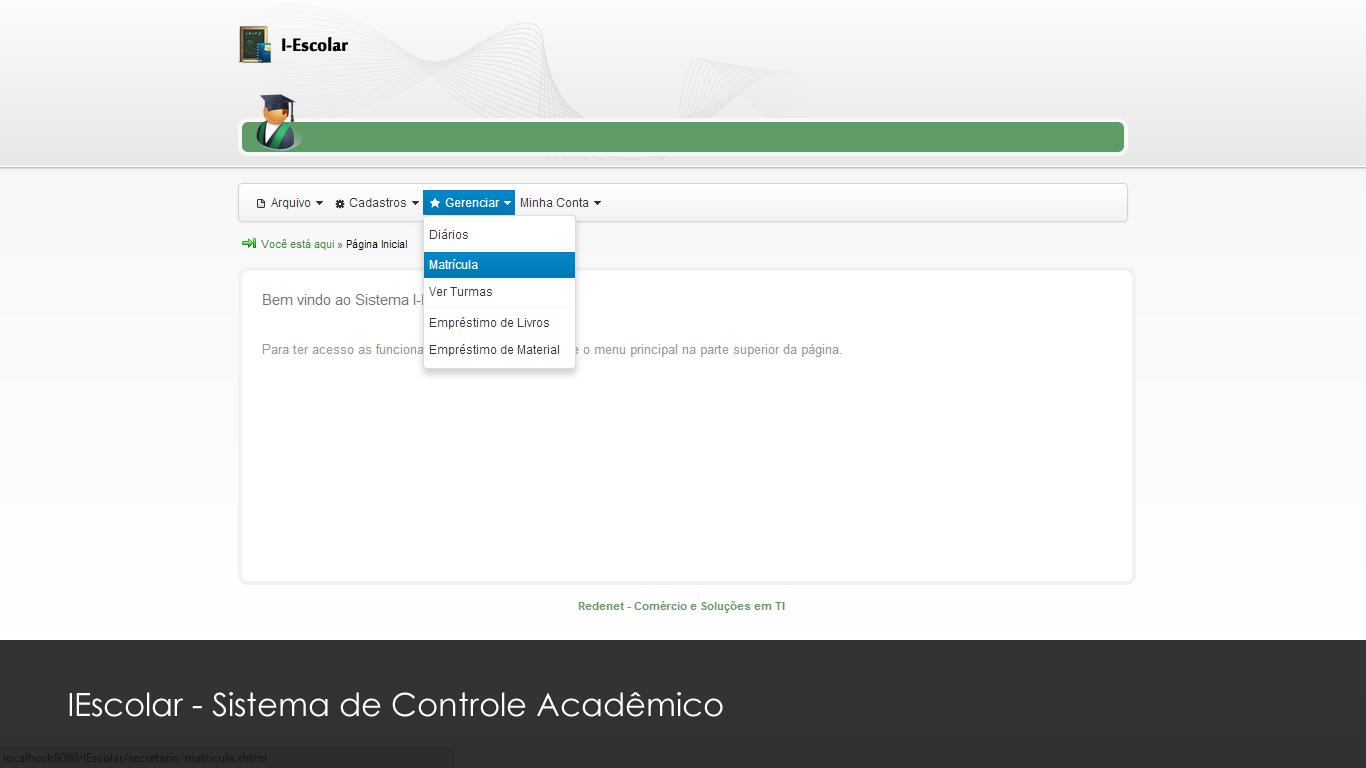 IEscolar - Sistema de Controle Acadêmico