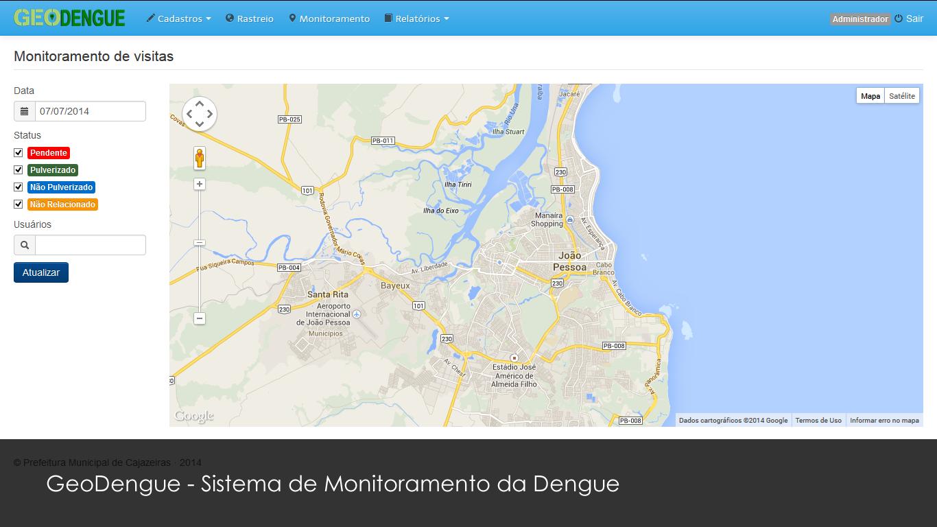 GeoDengue - Sistema de Monitoramento da Dengue