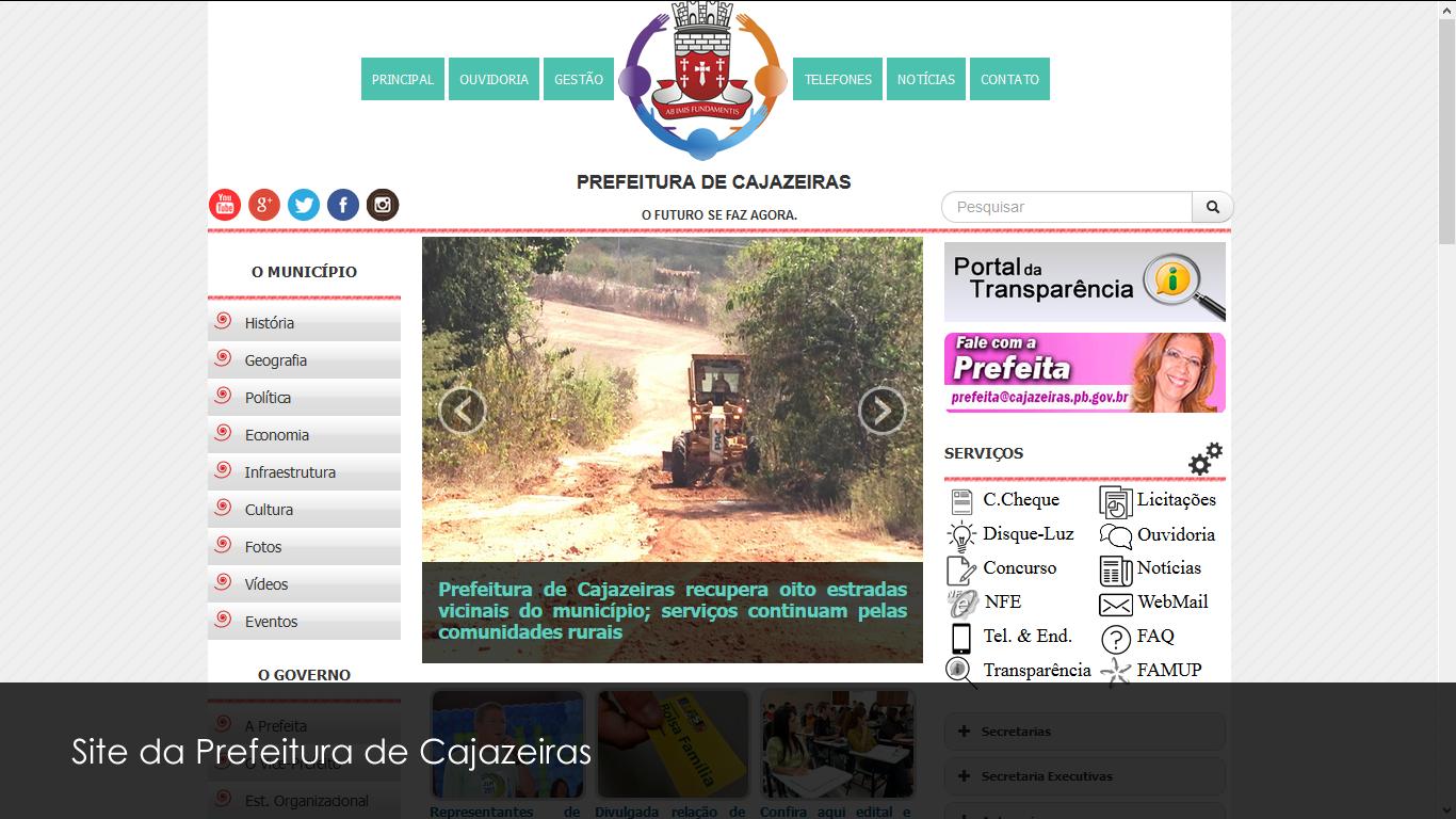 Site da Prefeitura de Cajazeiras
